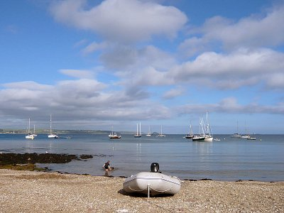 Dingy on Cawsand Beach